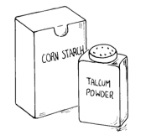 picture of corn starch and talcum powder containers